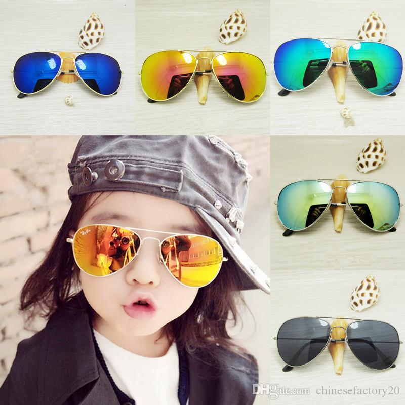 Çocuk Güneş Çocuk Plaj Güneş Gözlükleri UV 400 Moda Aksesuar Güneş Gözlük erkek bebekler için Kız Tente çocuklar Gözlük