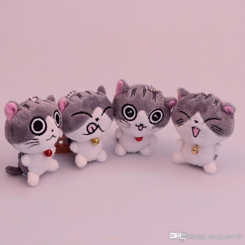 Kedi Miyav Koleksiyonu Peynir kedi Peluş oyuncaklar karikatür kedi Doldurulmuş Hayvanlar 8 cm / 10 cm çocuklar için Noel hediyesi ev aralık anahtarlık