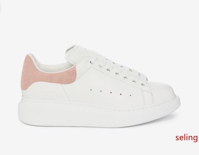 hombre de la moda para mujer zapatos de diseño zapatillas de deporte de cuero punta redonda con cordones para un tamaño de 34-46 mujeres de los hombres