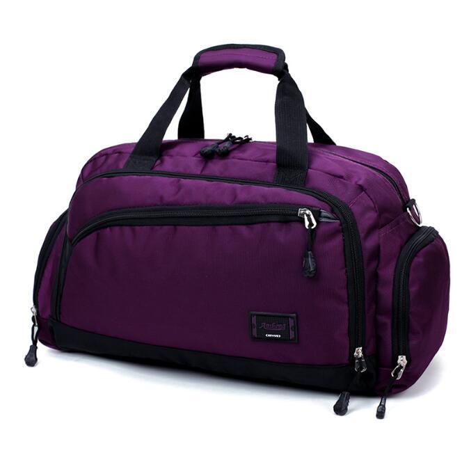 النساء المصممات حقائب سفر فاخرة كبيرة القدرة حقيبة رياضية في الهواء الطلق عالية الجودة حقيبة سفر متعددة الجيوب / 7