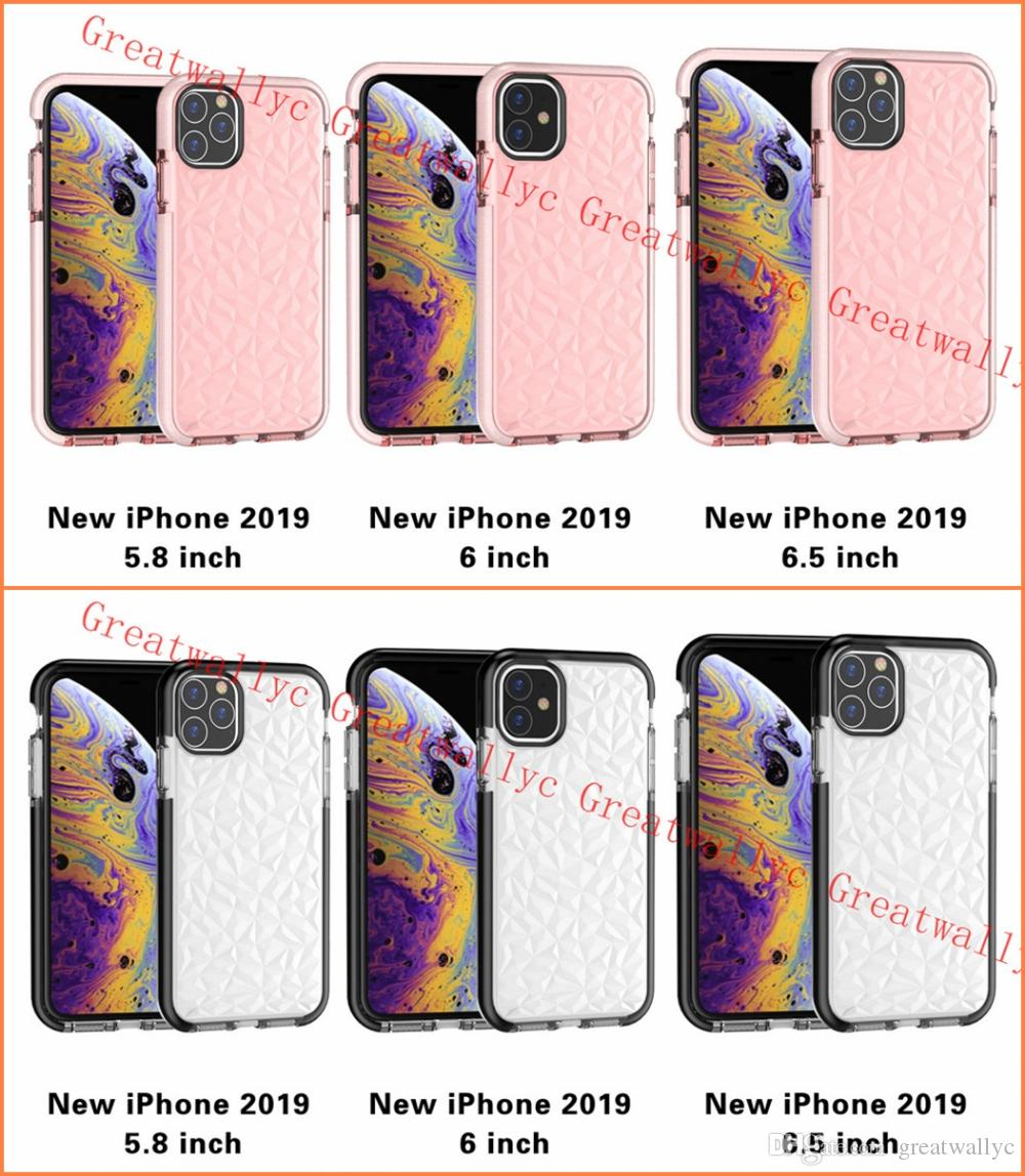 2019 NEW Iphone 11 XR XS MAX X Case Soft Silicone 충격 방지 Cover Protector Crystal Bling Glitter Rubber TPU Clear Case
