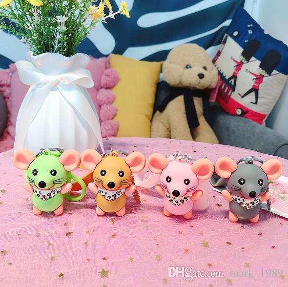 Creativo Cute cartoon mouse Portachiavi personalizzato tendenza coppia portachiavi borsa Ciondolo