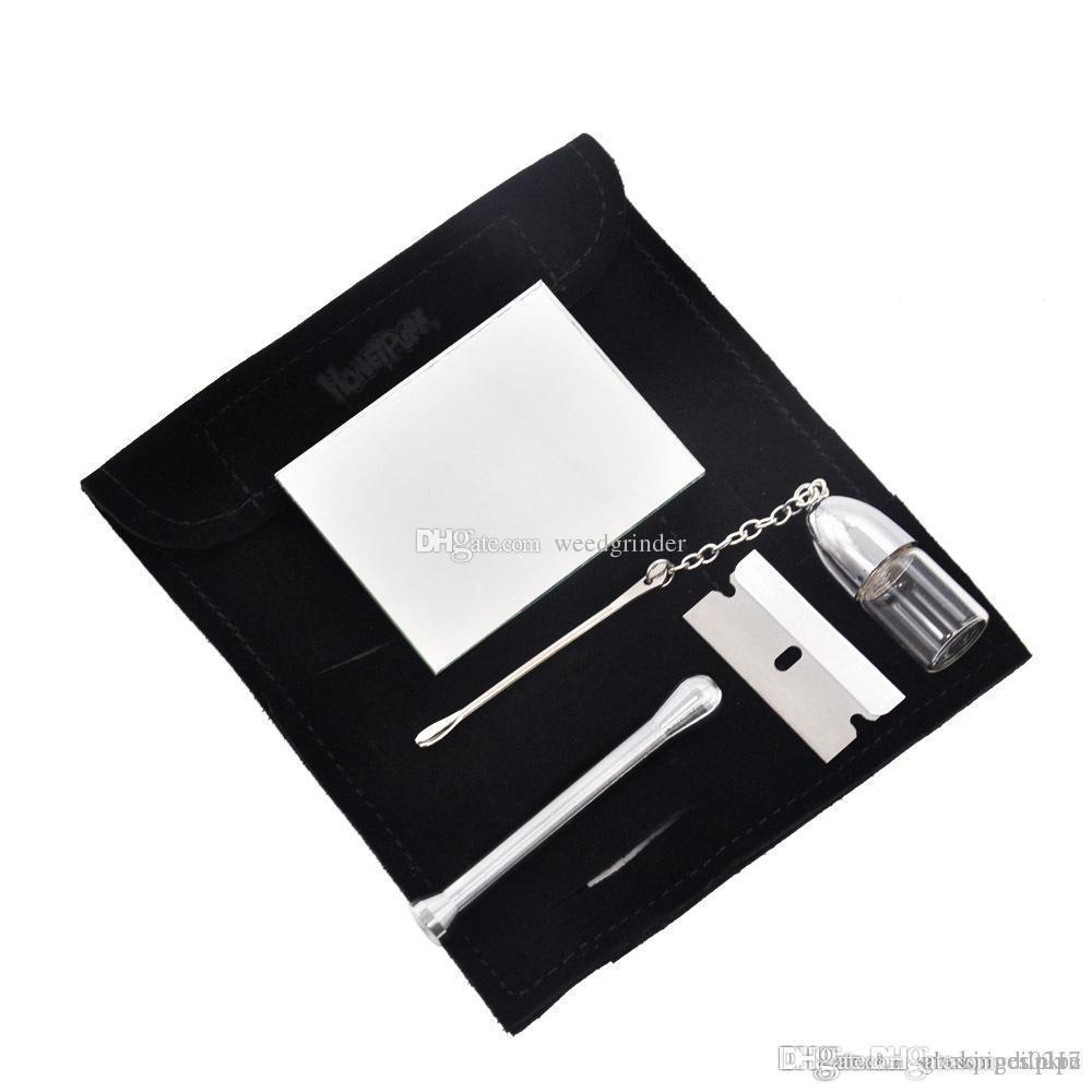 Formax420 подарочная упаковка небольшой замшевый комплект нюхательный набор Нюхач Нюхач курительная трубка воск инструмент и восковой контейнер для табака Бесплатная доставка