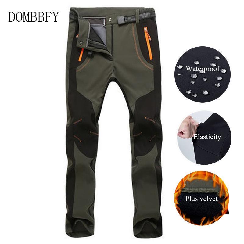 Randonnée pantalons imperméables Softshell hiver d'homme Camping Trekking thermique molletonnée ski Pantalons pour femmes Polartec Pantalons Pantalons 5XL