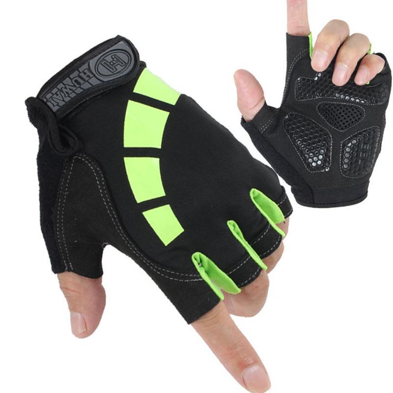 Половина Finger Мужчины Женщины Тонкий дышащий Lycra Anti-Skid Велоспорт противоударные перчатки Тактические Открытый Спорт Luvas Фитнес Перчатки С28