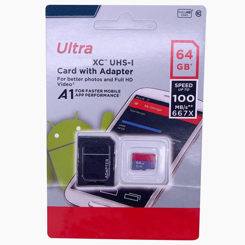 2019 PASS H2TESTW 100% Real 32GB 64GB 128GB Tarjeta de memoria SD EVO Clase 10 A1 Micro TF Tarjeta SD para la cámara del teléfono Envío gratis