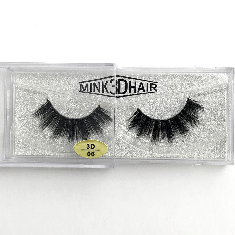ROMANTIC BEAR False eyelashes mink 3D hair soft & vivid mink hair lashes reusable full strip lashes 200pairs/lot DHL Free