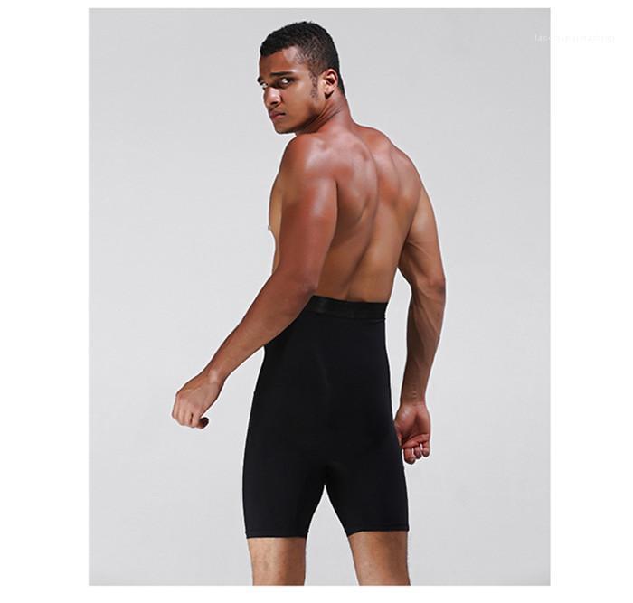 Da cintura Shaping Calças Controle shapers do corpo cintura instrutor emagrecimento Shapers respirável Mens Shapers Mantenha cintura elevação Hip magro alta