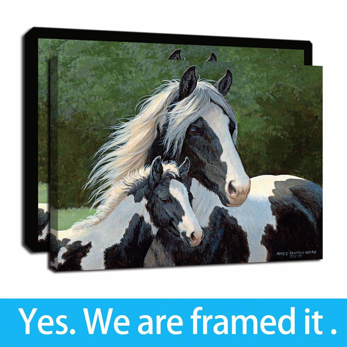 La impresión de HD en pinturas de la lona Gypsy Horse Pared enmarcada cuadro del arte para el hogar y la oficina Decoración listo para colgar