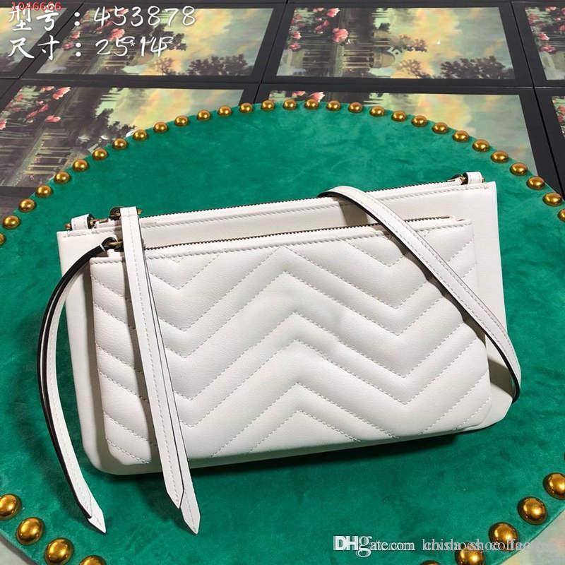2020 Les derniers sacs classiques de mode, Femmes pur cuir Sac à bandoulière unique épaule, avec l'emballage ensemble complet