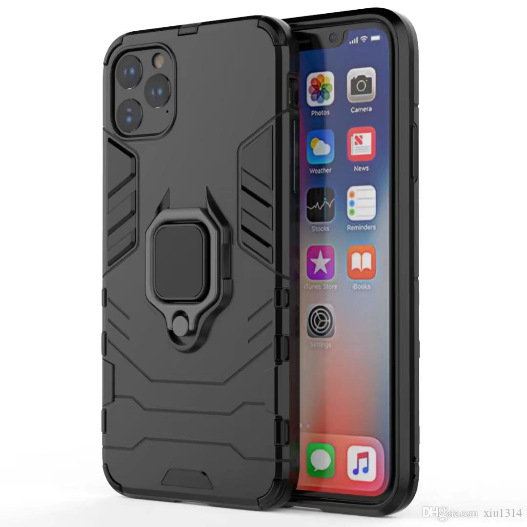 Shockproof Armor Phone Case For iPhone 12 Mini 11 Pro 11 Pro Max Xs Xr X Car Ring Holder Back Cover For iPhone 7 8 Plus 6S 6