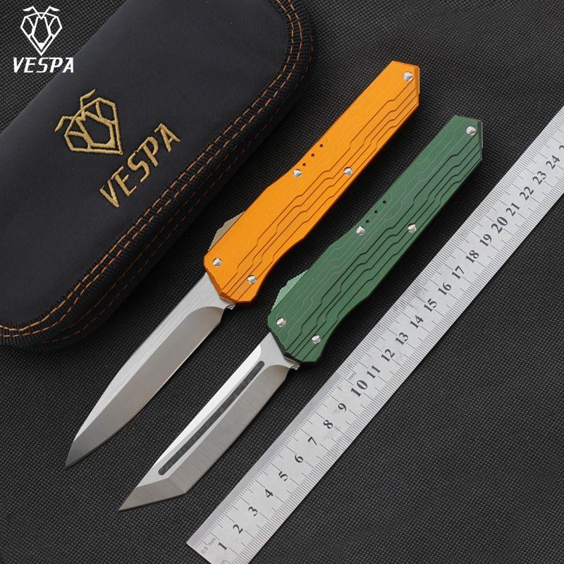 Yüksek kaliteli VESPA Versiyon Bıçak Blade katlama: M390 Sap: 7075Aluminum + TC4, Açık kamp sağkalım EDC aracını Bıçak, ücretsiz nakliye
