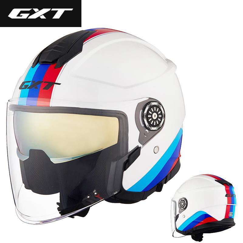 GXT خوذة دراجة نارية الرجال نصف الوجه ABS خوذة سلامة قوة عدسة مزدوجة السيدات الدراجات النارية و الدراجات FA101