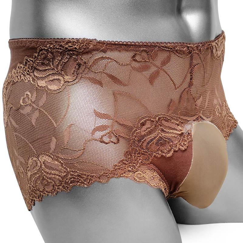 Sissy Boxers Panties With Bulge Pouch Floral Lace Sissy Mens Pouch Panties Underwear Sexy Lingerie Boxer Shorts Underpants Gay