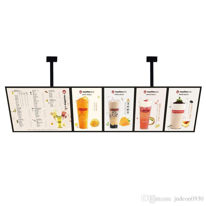 (5 graphiques / colonne) restaurant Publicité Hanging Menu Lightbox Illuminated cadre Affiche pour Bar, Restaurant, Café, Hôtel, Plats à emporter