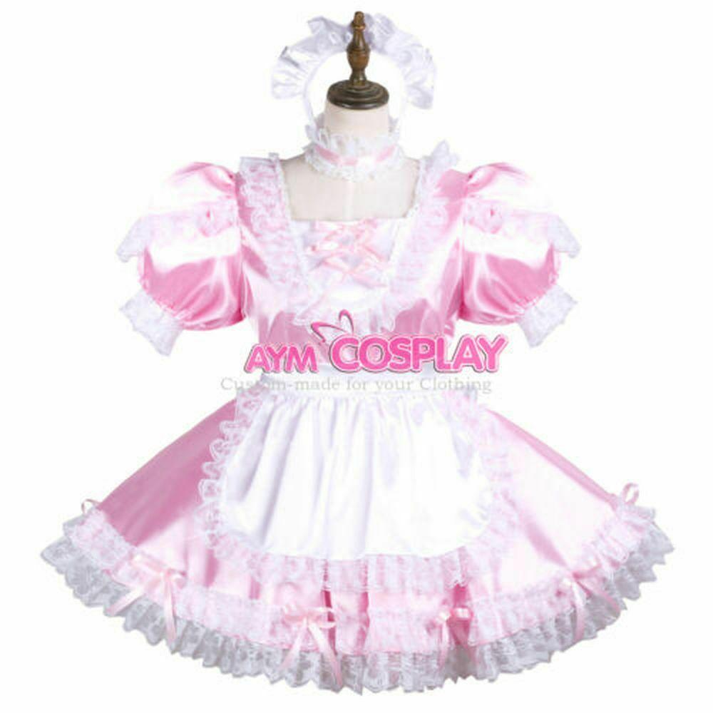 Satin  Sissy baby maid mini dress CD//TV Tailor-made