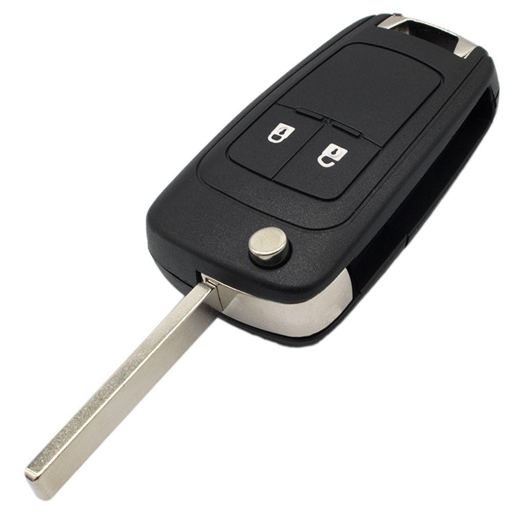 2 Düğmeler Katlama Araç Anahtar Kabuk Uzaktan Ayaklı Anahtarlık Örnek için Opel Hırsızlık Astra H Amblem J Vectra C Corsa D Zafira G