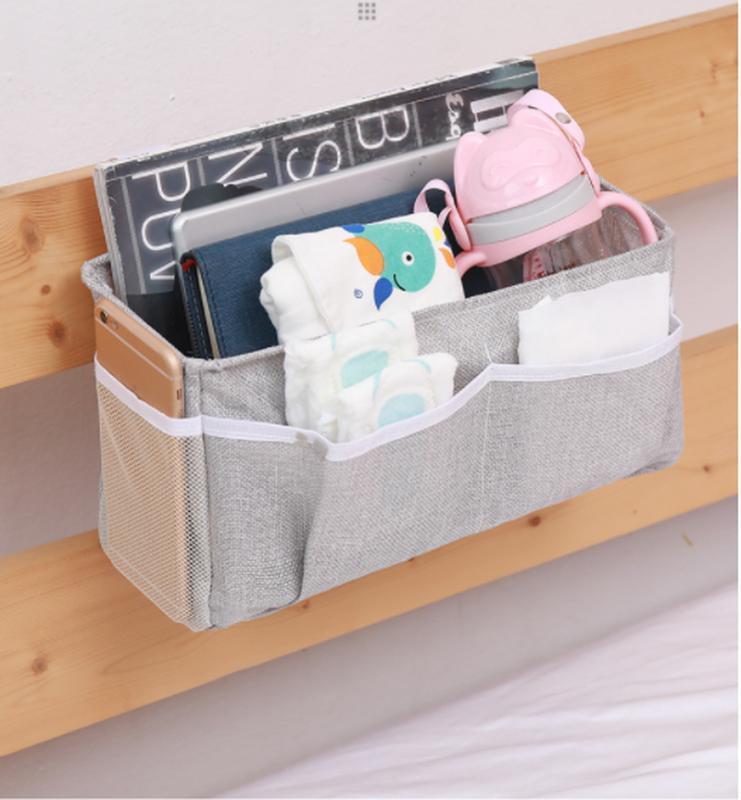 Bed Storage Pockets Bedside Hanging Storage Bag Home Table Sofa Organizer Book Magazine TV Phone Remote Caddy Bunk Holder