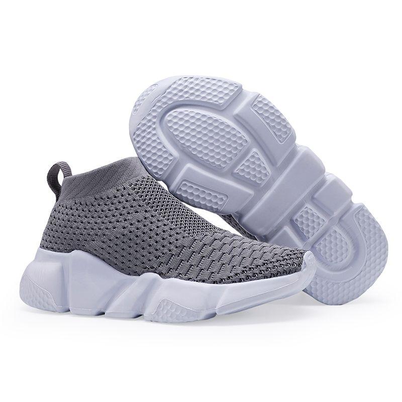 Ulknn Children Shoes For Girls Boys Shoe Boys Sneaker Kids Sock Shoe Breathable Mesh Slip-on Running Sport Footwear Dress Y19061906
