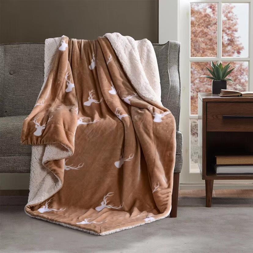 5 colori 4 Stile Deer Head Coperta nuovo modo ispessisce autunno inverno coperta calda della casa di corsa Ufficio Nap Blanket 2020