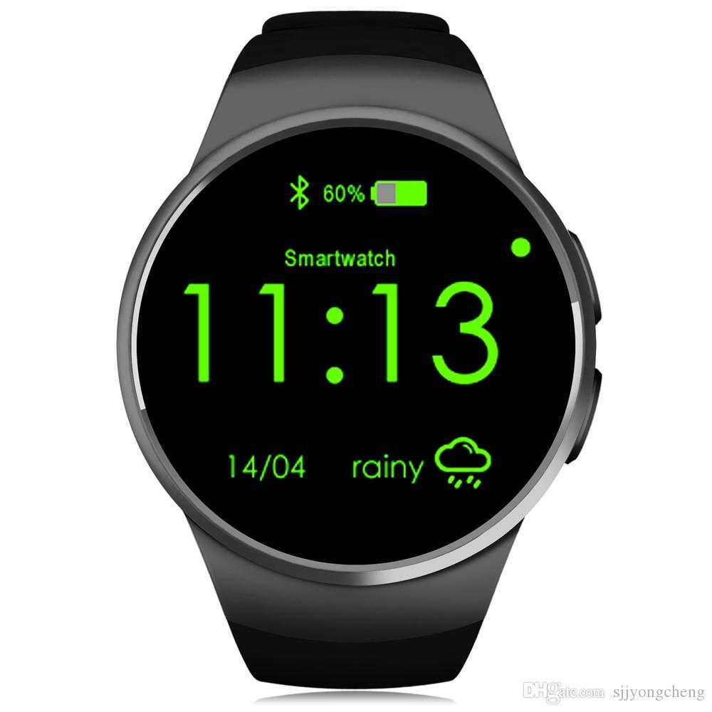 Winsun KW18 1.3 pouces cadran rond Smartwatch Téléphone MTK2502 écran IPS Podomètre Sédentaire Rappel Bluetooth 4.0 Moniteur de fréquence cardiaque