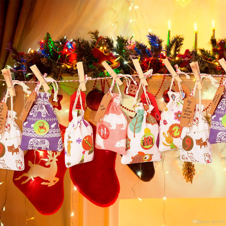 السنة الجديدة ميلاد سعيد زينة عيد الميلاد للمنزل عشية عيد الميلاد الحلوى كيس الهدايا سانتا كلوز شجرة عيد الميلاد زينة ناتال 2019
