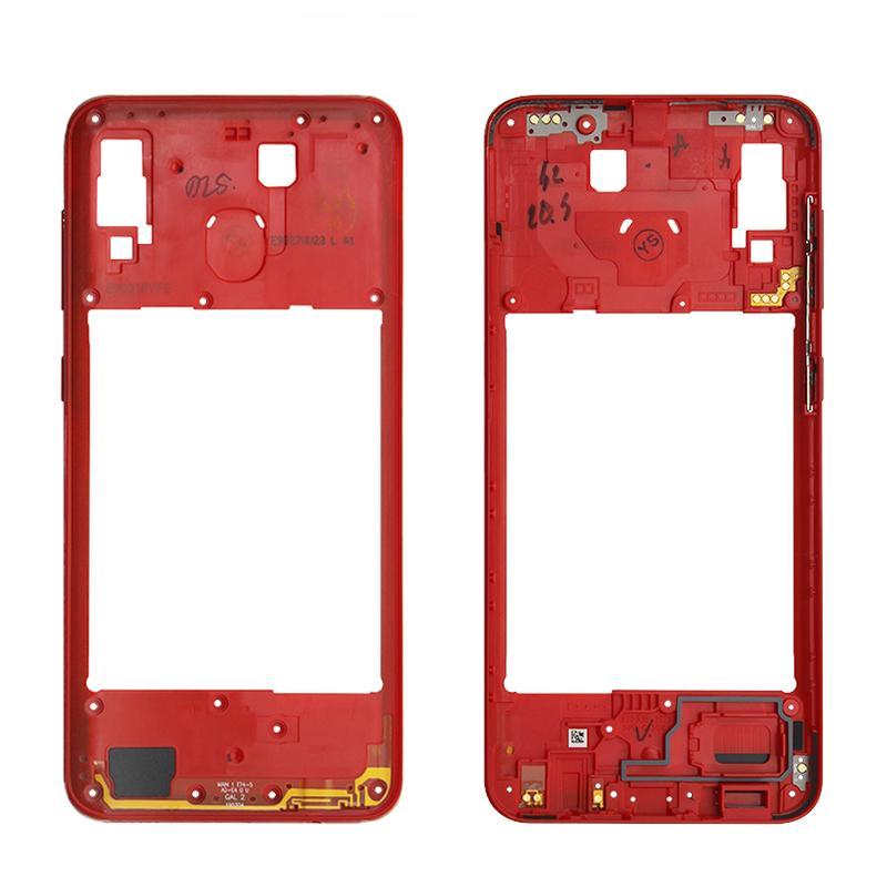 Mittleres Feld Bezel mittlere Platten-Abdeckung Ersatzteile für Samsung Galaxy A20 A30 A40 / A210 A50 Mid Gehäuse Fall 5,0