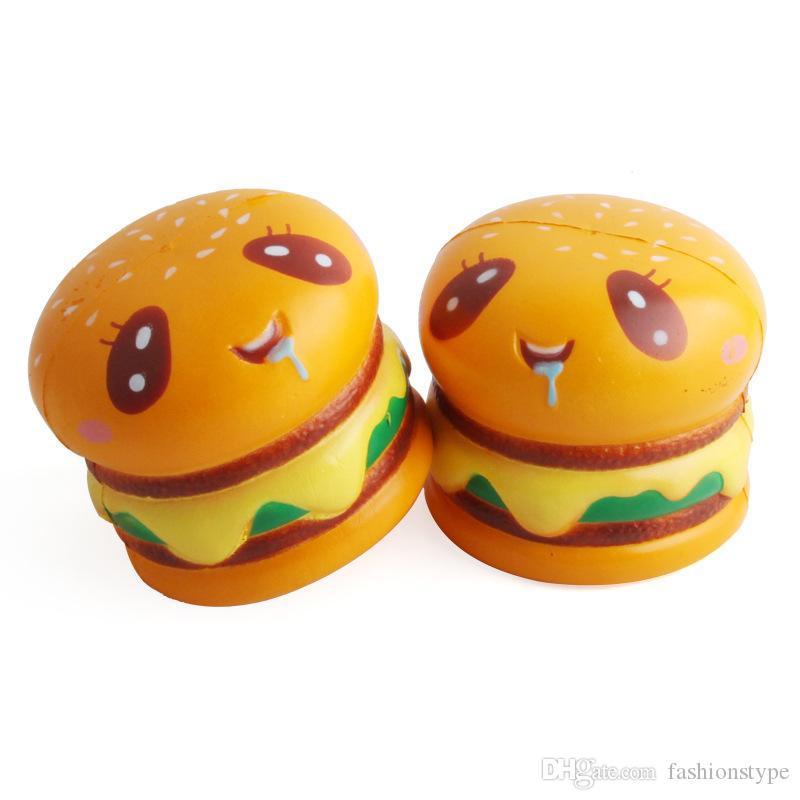 ارتفاع اسفنجي بطيئة pu الضغط الخبز محاكاة همبرغر شكل تصميم squishies جامبو الضغط اللعب عالية الجودة