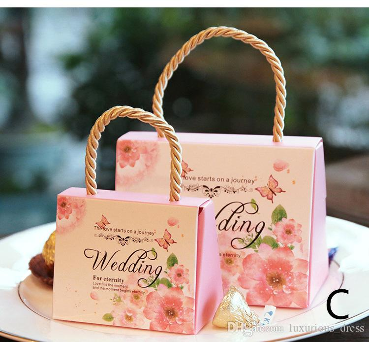 Candy Box Wedding Box Gift Boxes gifts for guests Party Favors Bags Candy paper Gift Chocolate Box Event Decoration