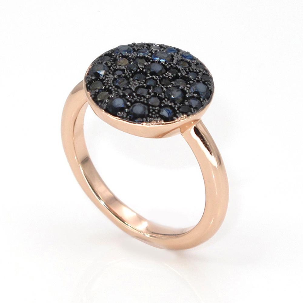 Best Newest Design Unique Black Zircon Round Ring For Friend Christmas Gift Best Selling V191129