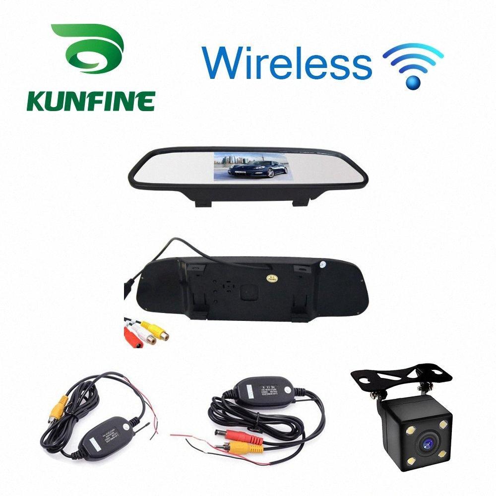 Car Styling 4,3 pollici Car Rear View Mirror schermo monitor con Wifi retrovisore inversione macchina fotografica di sostegno TV Mostra ekX7 #