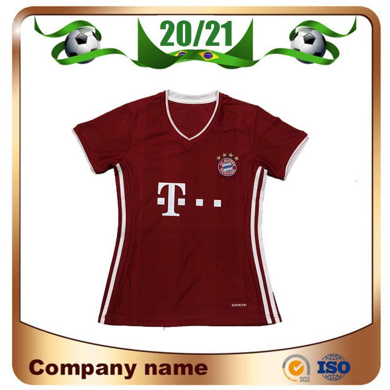 بايرن 20/21 امرأة # 25 MULLER لكرة القدم جيرسي 2020 الرئيسية الأحمر فتاة # 9 LEWANDOWSKI # 10 ROBBEN كرة القدم قميص كرة القدم الزي هاملز VIDAL