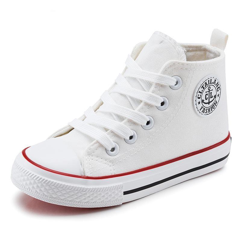 Leinwand Kinder Schuhe 2017 Frühling Herbst High Top Atmungsaktive Kinder Turnschuhe Mode Jungen Mädchen Freizeitschuhe chaussure enfant