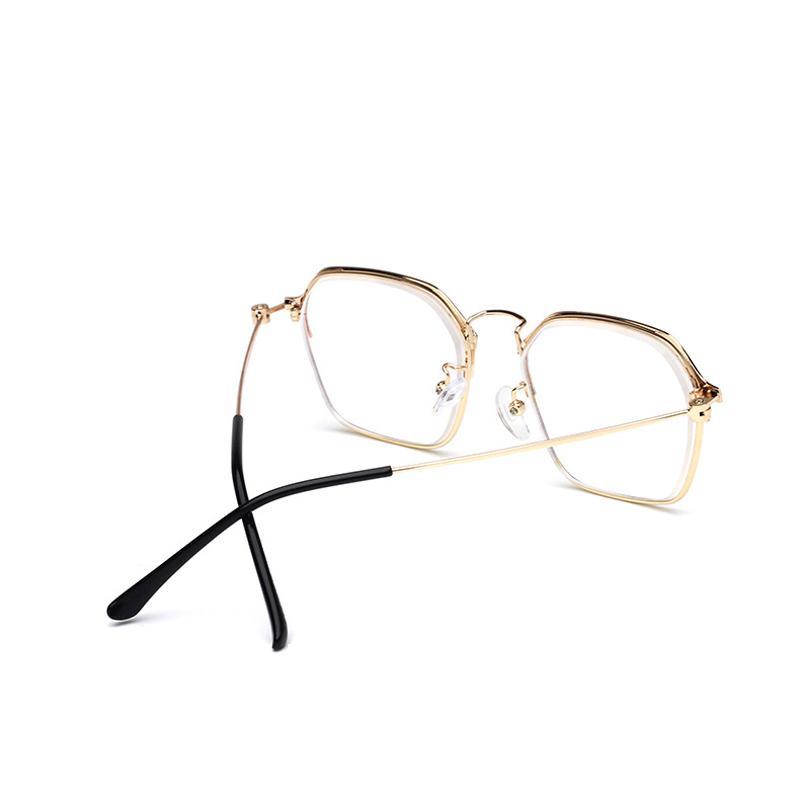 All'ingrosso-Zilead Polygon mezzo telaio finito miopia Occhiali womenmen metallo miope occhiali da vista unisex