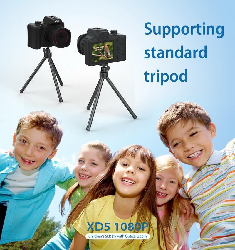 Mini Digital Kids Cameras 2.0 Inch IPS HD Colored Screen Kids Camera Children children's SLR DV with optical Zoom