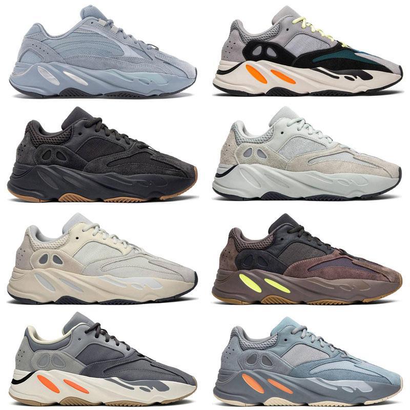 Kanye West 700 V2 corredor da onda Homens Mulheres Designer Sneakers New Hospital azul 700 V2 ímã Tephra melhor qualidade Kanye West sapatos de desporto