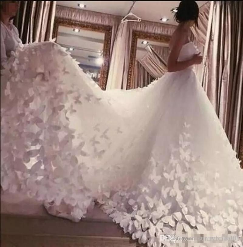현대 패션 웨딩 드레스 아가 연인의 공식적인 신부 가운 긴 대성당 기차 얇은 명주 브라이들 가운 맞춤 제작 무료 배송