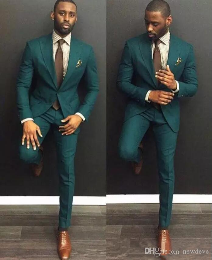 Hübsche grüne Hochzeits-Smoking für die besten Mann-Art- und Weisemänner Bräutigam-Klage dünnes Sitz-Bräutigam-Smoking für Mann (Jacke + Pants) Bräutigam Ebelz besonders angefertigt
