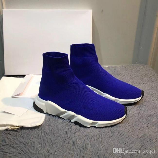 2019 Blue Sock Shoe Men And Women