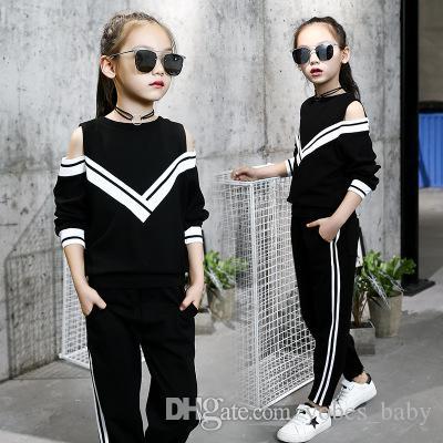 kids designer Girls fashion girls tracksuit casual boutique clothing 2019 Korean V-neck thread boys d girls infant clothing toddler garments
