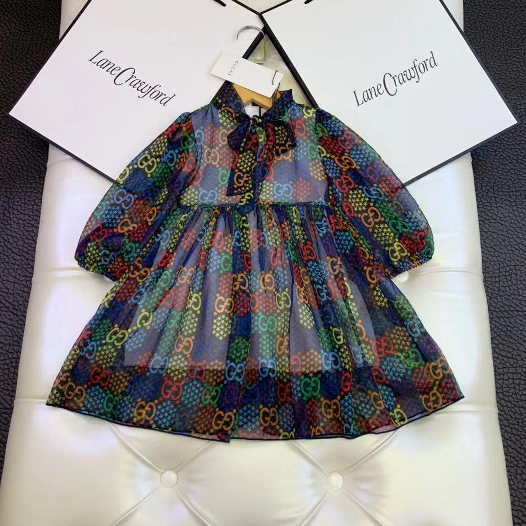 2020 yeni çocuk elbise prenses Yaz İnce Sweet Stil Elbise Preppy Suspender Sundress Denim Genel Mini çocuklar Elbise