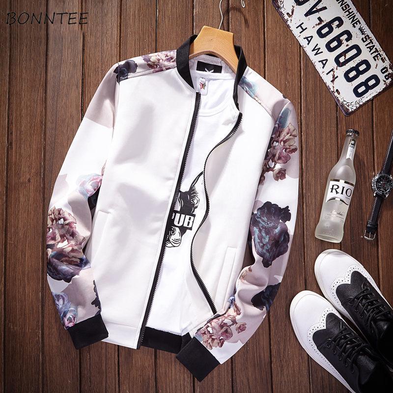 Chaquetas de los hombres de manga larga alta calidad del soporte cómodo chaqueta para hombre Todo-fósforo Ulzzang estilo coreano ocio diario de bolsillo Zippper