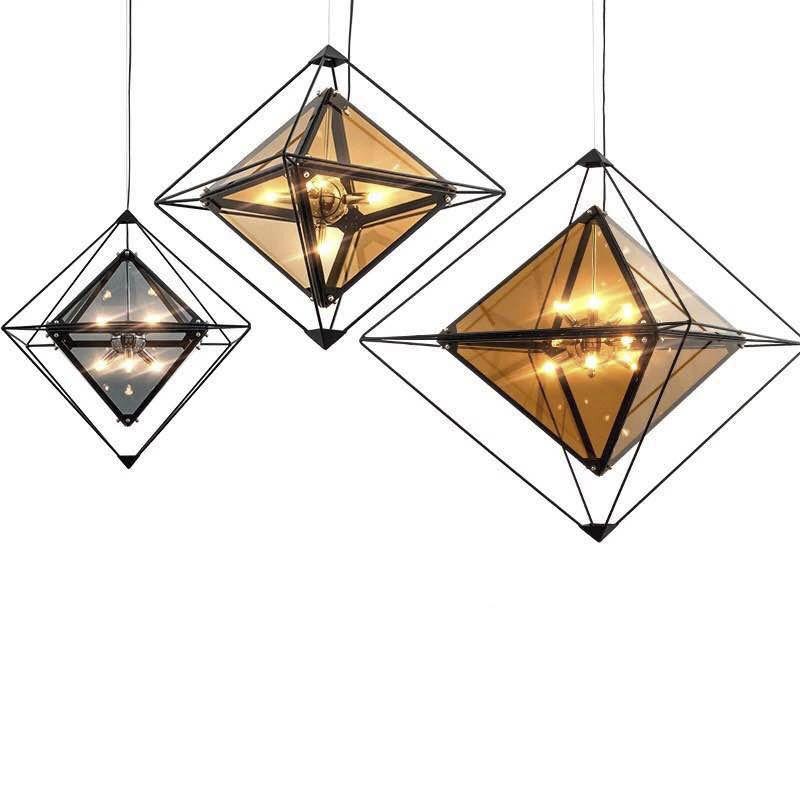 pós-moderno Nordic lâmpada lâmpadas criativo sala de hotel personalizado luzes pendentes bar roupas candeeiro de mesa restaurante diamante
