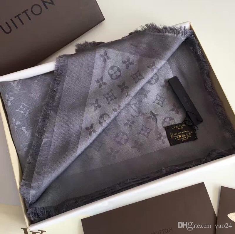 Good quality Scarf for Women Spring Autumn Fashion Silk cotton Letter scarf Shawl Ladies Scarves Size 140x140cm