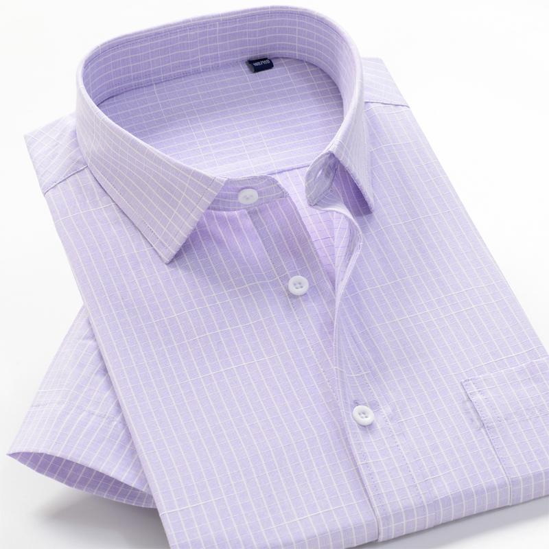 Casual Ekose Kısa Gömlek Şık üst seviye gevşek yaz gömlek 2020 yaz yeni büyük boy 8XL 9XL 10XL Erkekler İş