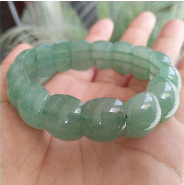 Bijoux fins Naturel DongLing Jade Bracelet À La Main jade Bracelet Chanceux Amulette Hommes Femmes Bijoux