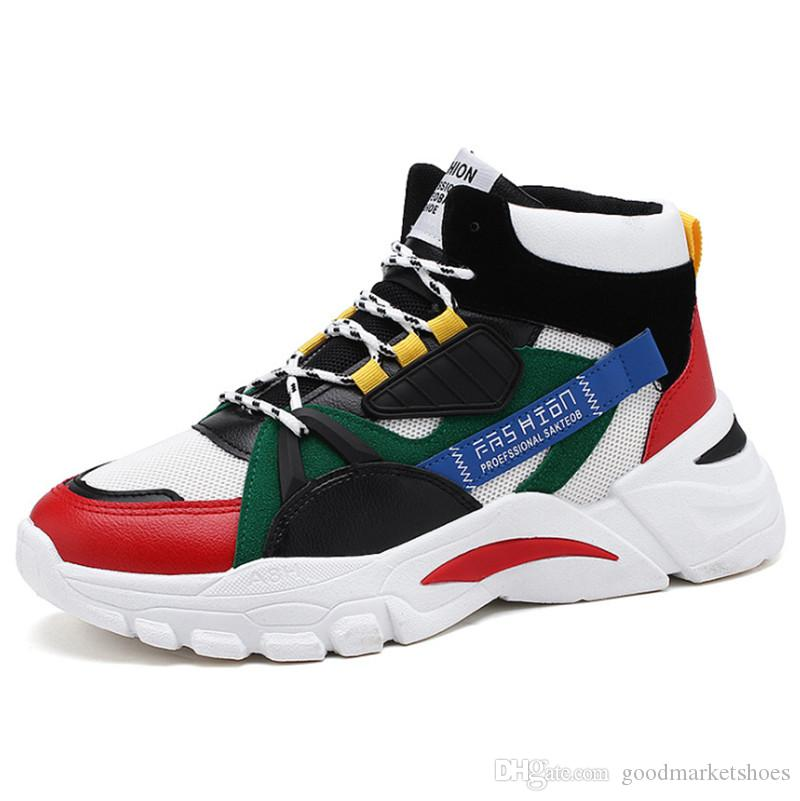High Quality 2020 spring and autumn men's shoes breathable trend sports running shoes tide large size casual shoes men