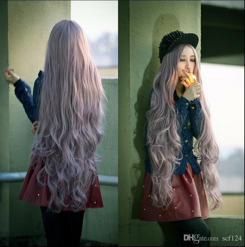 Longue perruque Cheveux ondulés pourpre perruque Cosplay Perruques Cosplay Perruques