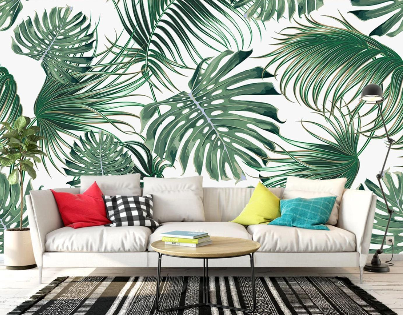 Tropical Leaves Wallpaper Wall Mural Photo Wall Papers Art Decor Canvas Contact Paper Home Improvement Cover Wallpapers Hd Wallpapers Hd Background From Hobarte 26 57 Dhgate Com Download all photos and use them even for commercial projects. tropical leaves wallpaper wall mural