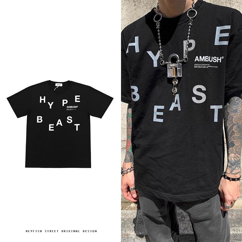 19ss progettista high street hip-hop Ambush riflettente manicotto hypebeast mens amanti LOGO bicchierino-manicotto allentato articolari e donne t-shirt